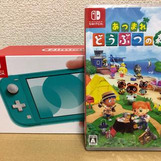 Nintendo Switch - 任天堂 スイッチライト ターコイズ アツモリセット