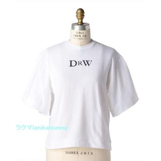 Drawer - 19ss ドゥロワーDrawer プリントエンブレム TEEシャツ