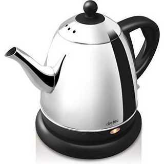 ブラックdretec(ドリテック) 電気ケトル ステンレス コーヒー ドリップ (電気ケトル)