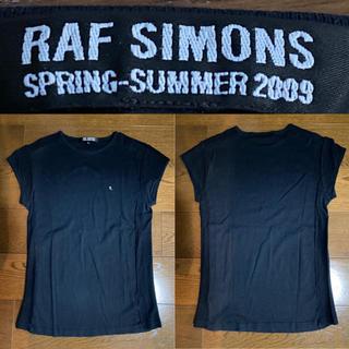 ラフシモンズ(RAF SIMONS)のRAF SIMONS(ラフシモンズ)メッシュTシャツ ブラック 半袖ノースリーブ(Tシャツ/カットソー(半袖/袖なし))
