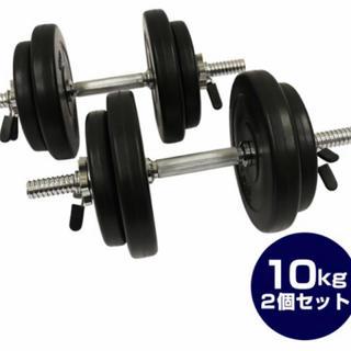 セメントダンベル10kg 2個セット(トレーニング用品)