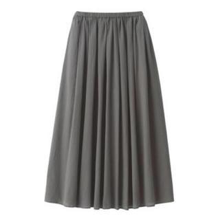 ムジルシリョウヒン(MUJI (無印良品))の新品    無印良品  インド綿強撚イージーマキシスカート  (ロングスカート)