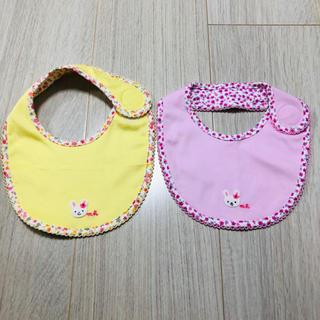 mikihouse - 新品未使用 ミキハウス スタイ  小花柄 女の子 セット売り