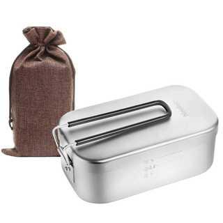Neelac メスティン キャンプ 飯ごう 飯盒 バリ取り済(トレーニング用品)