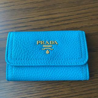 PRADA - 【新品未使用】PRADA キーケース ターコイズ