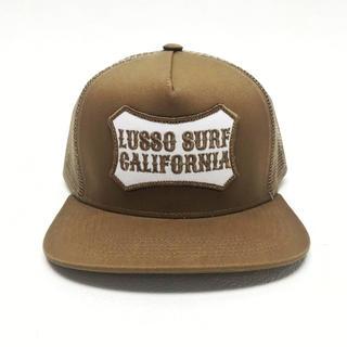 ロンハーマン(Ron Herman)のカリフォルニア系☆LUSSO SURF ボックスロゴ刺繍キャップ☆帽子 デウス(キャップ)