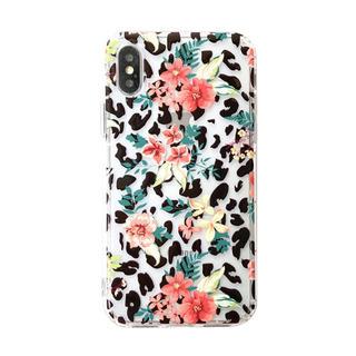 セール iPhoneケース レオパード柄 花柄(iPhoneケース)