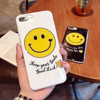 スマイル ニコちゃん 光沢 iPhone6/6s ホワイト(iPhoneケース)