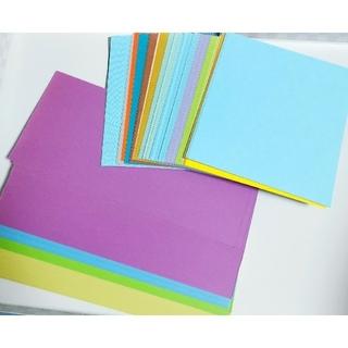 ■160枚■カット色画用紙■メッセージカード、ペーパークラフト等に(カード/レター/ラッピング)