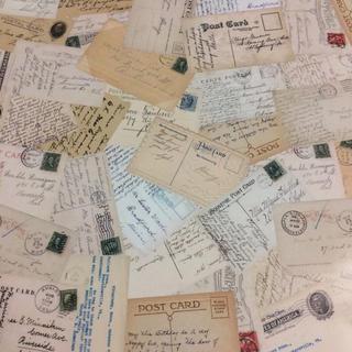 132 デザインペーパー ポストカード おすそ分けファイル ジャンクジャーナル(その他)