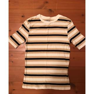 ジーユー(GU)のGU ジーユー ボーダー リブTシャツ S(Tシャツ(半袖/袖なし))