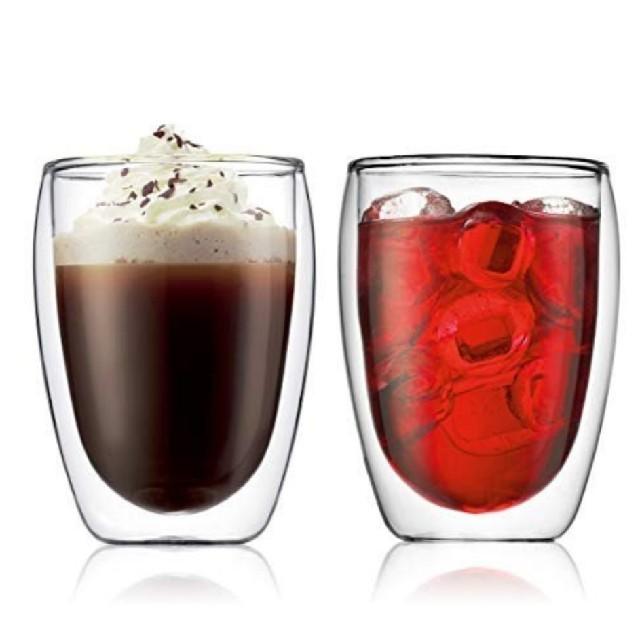 bodum(ボダム)のボダム  パヴィーナ PAVINA ダブルウォールグラス 350ml 4個セット インテリア/住まい/日用品のキッチン/食器(グラス/カップ)の商品写真