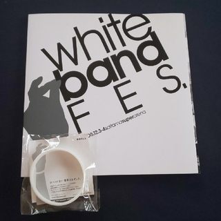 2005 ホワイトバンドフェス パンフレットとホワイトバンド(ミュージシャン)