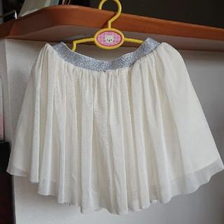 ユニクロ(UNIQLO)の白のチュールスカート(スカート)