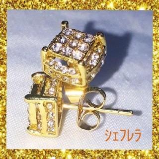 ラグジュアリー ピアス ビッグサイズ ゴールドカラー(ピアス(両耳用))