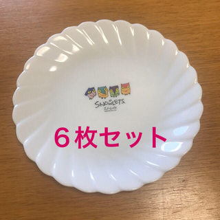 ヤマザキセイパン(山崎製パン)の【新品】ヤマザキ白い皿6枚(長野オリンピック)(食器)
