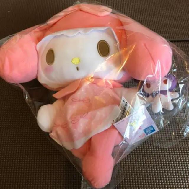 マイメロディ(マイメロディ)のマイメロ ガーリーピンクBIGぬいぐるみ クロミと一緒 エンタメ/ホビーのおもちゃ/ぬいぐるみ(キャラクターグッズ)の商品写真
