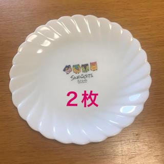 ヤマザキセイパン(山崎製パン)の【新品】ヤマザキ白い皿2枚(長野オリンピック)(食器)