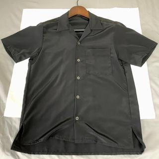 STUDIOUS - オープンカラーシャツ ブラック STUDIOUS ステュディオス