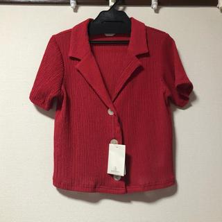 イエナスローブ(IENA SLOBE)のIENA SLOBE クロップド開襟シャツ(シャツ/ブラウス(半袖/袖なし))