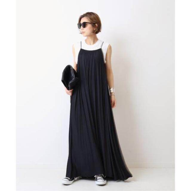 DEUXIEME CLASSE(ドゥーズィエムクラス)の Deuxieme Classe Sun Dress  タグ付き新品 ブラック レディースのワンピース(ロングワンピース/マキシワンピース)の商品写真
