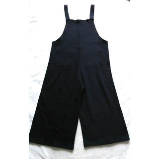 897 サロペット 黒 ニット オールインワン(サロペット/オーバーオール)