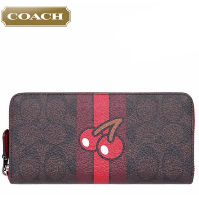 COACH(コーチ)の新品◆コーチxパックマン限定◇長財布◆F56718◇シグネチャー チェリーx茶色 レディースのファッション小物(財布)の商品写真