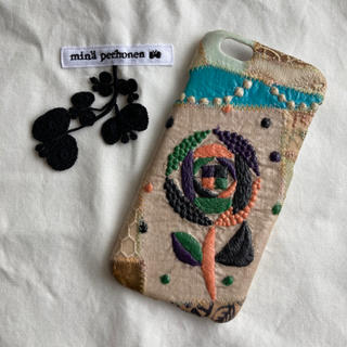 ミナペルホネン(mina perhonen)のミナペルホネン iPhoneケース 6.6s用 sand rose タンバリン(iPhoneケース)