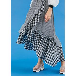 snidel - 人気 完売品 スナイデル イレヘムフリルギャザースカート ロングスカート