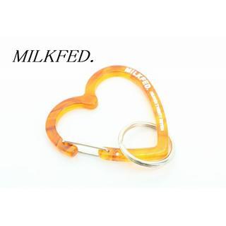 ミルクフェド(MILKFED.)の【U365】MILKFED. ミルクフェド ハート カラビナ キーホルダー (キーホルダー)