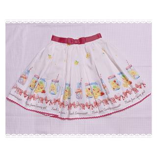アンクルージュ(Ank Rouge)のAnk Rouge❤︎ギンガムリボン柄 レモネード スカート(ミニスカート)