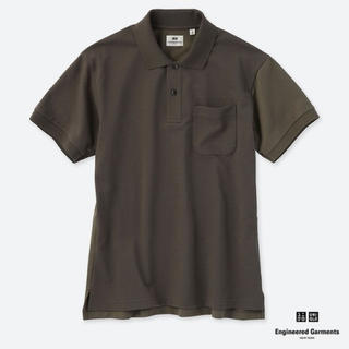 ユニクロ(UNIQLO)のユニクロ ドライカノコカラーブロックポロシャツ オリーブ s(ポロシャツ)