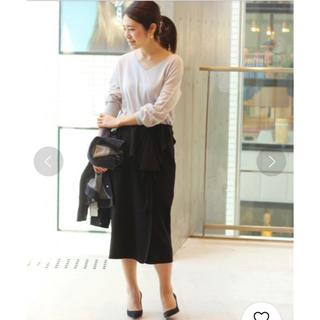 IENA - IENA イエナ☆ジョーゼットボンディングデザインスカート★黒