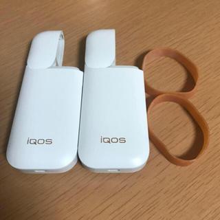 IQOS - a94アイコス2.4本体 初期型チャージャー 白 ホワイト2個 ☆ゴム付き