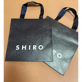 シロ(shiro)のSHIRO ショッパー 紙袋 2枚セット(ショップ袋)