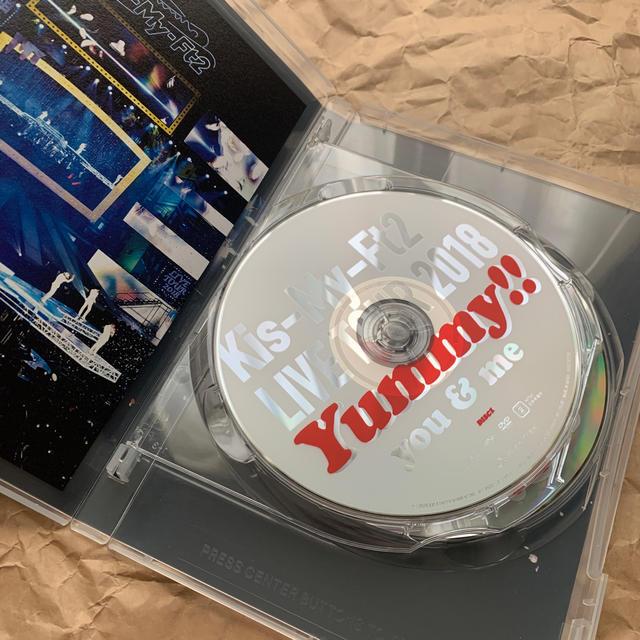 Kis-My-Ft2(キスマイフットツー)のLIVE TOUR 2018 Yummy!! you&me DVD エンタメ/ホビーのDVD/ブルーレイ(ミュージック)の商品写真