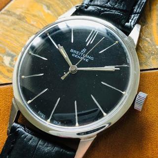 ブライトリング(BREITLING)のブライトリング◎ブラック文字盤 手巻き33㎜ メンズ腕時計 アンティーク(腕時計(アナログ))