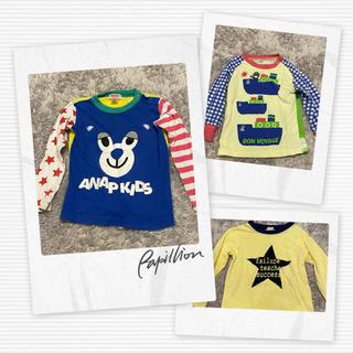 アナップキッズ(ANAP Kids)のANAP&オルソブルー&西松屋トップス3枚セット✴︎900(Tシャツ/カットソー)