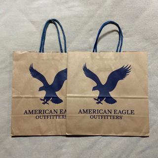 アメリカンイーグル(American Eagle)のアメリカンイーグル ショッパー 2枚セット(ショップ袋)