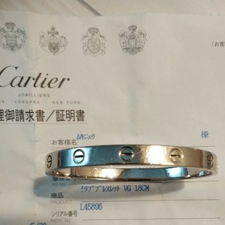 Cartier - Cartier カルティエ ラブブレス 18サイズ