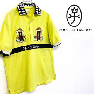 カステルバジャック(CASTELBAJAC)の美品 オールドルック CastelBajac ポロシャツ 刺繍ロゴ(ポロシャツ)