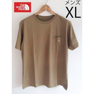 THE NORTH FACE - XL 新品ノースフェイス シンプル ロゴ ポケットTシャツ ベージュ