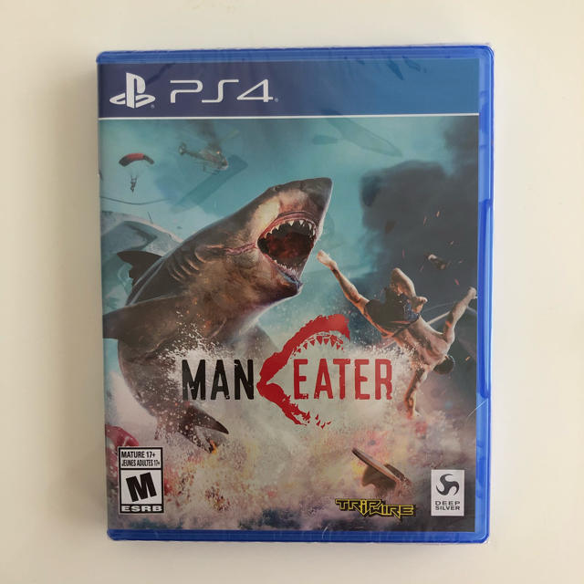 PlayStation4(プレイステーション4)のMANEATER 輸入版:北米 新品未開封 エンタメ/ホビーのゲームソフト/ゲーム機本体(家庭用ゲームソフト)の商品写真