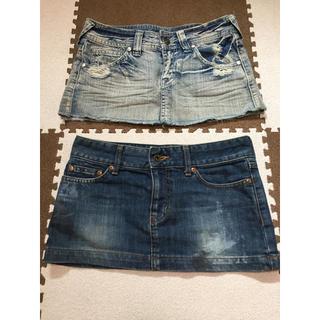 エゴイスト(EGOIST)のデニムミニスカート デニムスカート 2枚セット(ミニスカート)