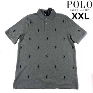 ポロラルフローレン(POLO RALPH LAUREN)のポロラルフローレン 半袖 ポロシャツ ポニー(XXL)グレー 総柄 190131(ポロシャツ)