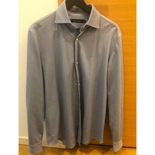 ウノピゥウノウグァーレトレ(1piu1uguale3)の1piu1uguale3 プレーンシャツ ブルーグレー(シャツ)