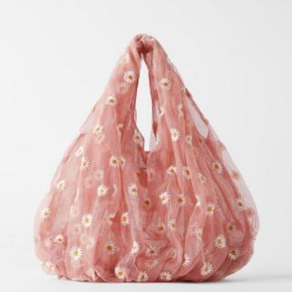 アッシュペーフランス(H.P.FRANCE)の【ラスト1点】✿ Daisy organdy tote bag . PINK🩰(トートバッグ)