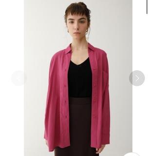 moussy - マウジー♡7678円オーバーシルエットシャツシアーシャツシャツジャケット
