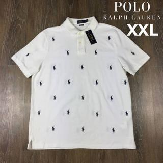 ポロラルフローレン(POLO RALPH LAUREN)のポロラルフローレン 半袖 ポロシャツ ポニー(XXL)白 総柄 190131(ポロシャツ)