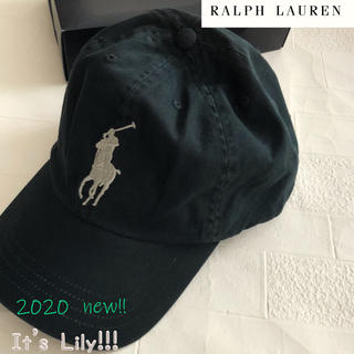 ラルフローレン(Ralph Lauren)の2-4t ラルフローレン 人気 ダークグレイ ビックポニー キャップ(帽子)